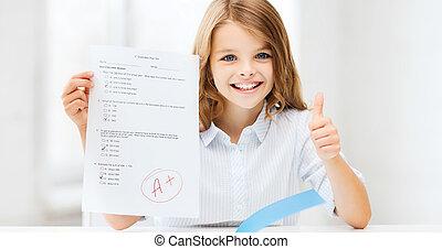 等級, 測試, 學校女孩