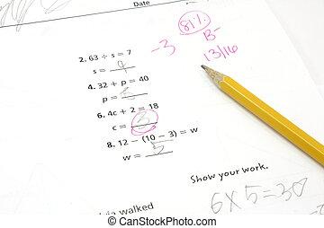 等級, 測試, 第5, 數學