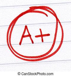 等級, 測試, a+, 寫, paper.
