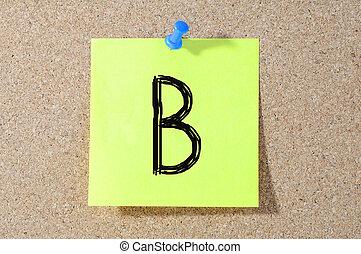 等級, 測試, paper., b, 寫