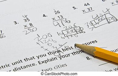 等級, 第4, 表, 數學