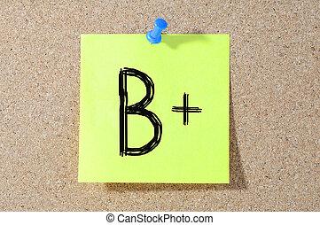 等級, b+, 測試, paper., 寫