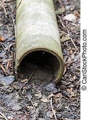 管子, 混凝土, 老, 地面