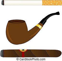 管子, 雪茄, 香煙