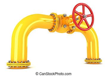 管道, 閥門, 黃色