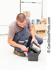 箱子, 工具, 做零活的人