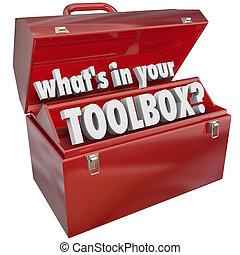 箱子, 技能, 什么是, 金屬, 經驗, 你, 工具箱, 工具, 紅色