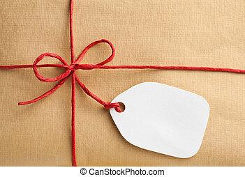 箱子, 標簽, 禮物, 空白