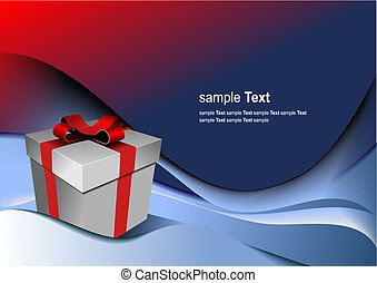 箱子, 禮物, holiday., 插圖, 明亮, 矢量, 任何