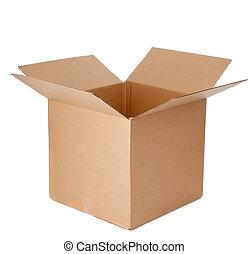 箱子, 紙板, 打開, 空