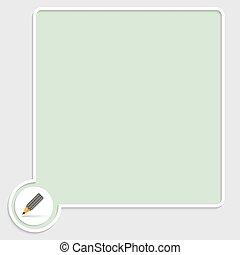 箱子, 鉛筆, 矢量, 綠色, 正文