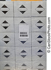 箱子, barcode, 標簽