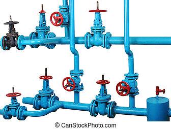 節點, 系統, 加熱, 水, 通訊, 技術