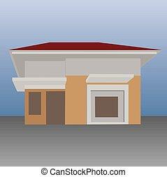 簡單, 房子, 矢量, 插圖