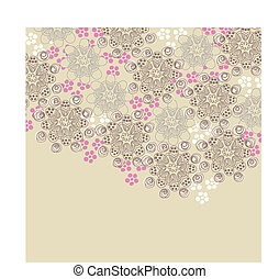 粉紅色, 布朗, 設計, 植物
