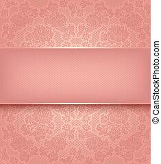 粉紅色, 裝飾, 帶子, 背景, 花, 樣板