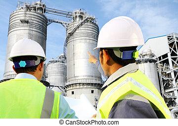 精煉厂, 油, 气体, 工程師