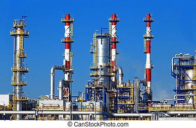精煉厂, 石油化學產品, 油, 植物