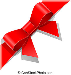 紅的緞帶, 弓