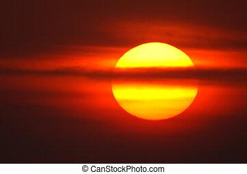 紅色, 日出