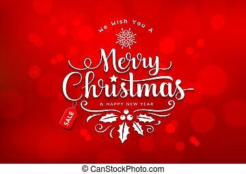 紅色, 聖誕節, 背景, bokeh, 歡樂, 卡片, 設計, 問候, 字母
