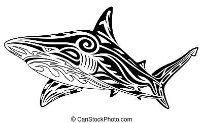 紋身, 部落, 鯊魚