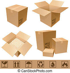 紙板, boxes.