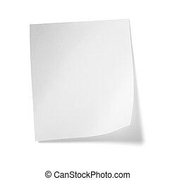 紙, 事務, 白色, 消息, 標簽, 筆記