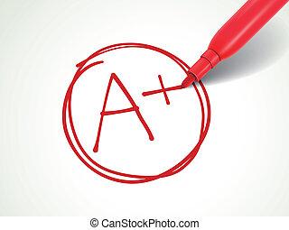 紙, 分級, 鋼筆, 加上, 紅色