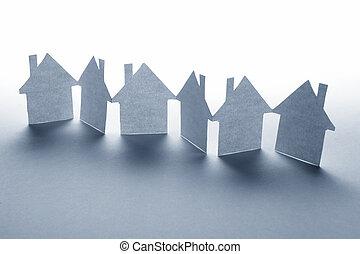 紙, 房子