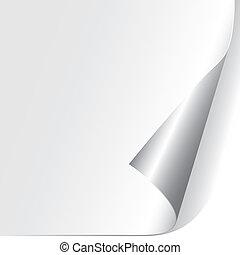 紙, 捲曲, 角落, (vector)