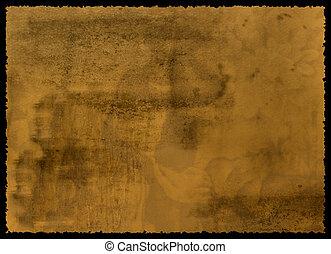 紙, 撕碎, 邊緣, 老, textured
