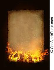 紙, 燃燒, 老