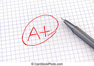 紙, 等級, 筆記本, 表, (a+), 加上