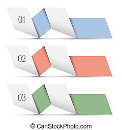 紙, origami, 旗幟, 編號
