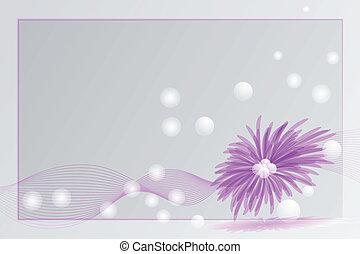 紫色的花, 卡片