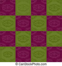 紫色的花, 綠色的背景