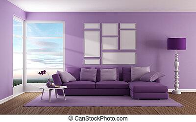 紫色, 生活, 當代, 房間