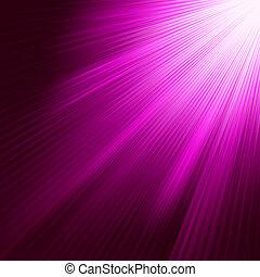 紫色, 8, 發光, eps, rays.