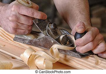 細木工技術, 車間, 木頭