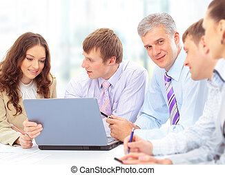 組, 辦公室, 商業界人士, 會議, 愉快