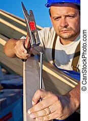 結构, 屋頂, 木匠, 工作