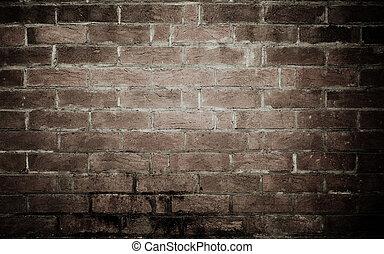 結構, 背景, 老, 牆, 磚
