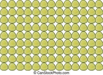 結構, 邊, 堆積, 背景, 黃瓜切