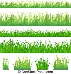 綠色的草, 背景, 4, 一簇
