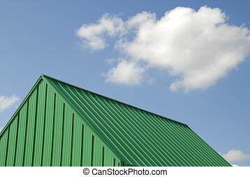 綠色的金屬, 屋頂