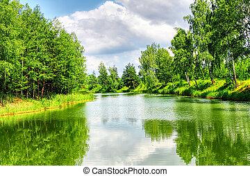 綠色的風景, 自然