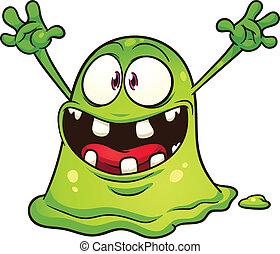 綠色, 團點, 怪物