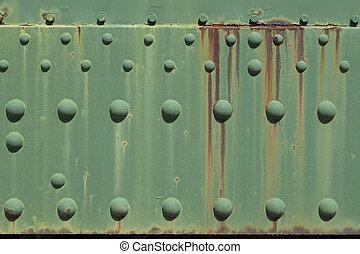 綠色, 生鏽的金屬, 盤子