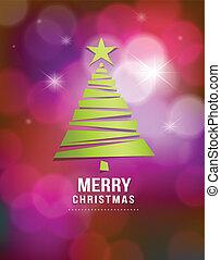 綠色, 紙, 樹, 聖誕節, 歡樂